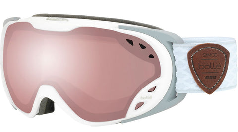 Bolle - Duchess Matte White Grey Snow Goggles / Vermillon Gun Lenses