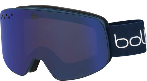 Bolle - Nevada Matte White Snow Goggles / Bronze Blue Lenses