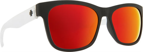 Spy - Sundowner Matte Black + Matte Crystal Sunglasses / Gray + Red Spectra Lenses