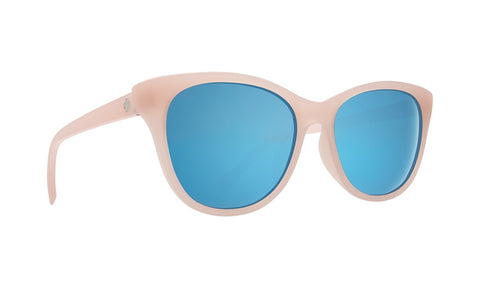 Spy - Spritzer Matte Translucent Blush Sunglasses / Gray + Light Blue Spectra Lenses
