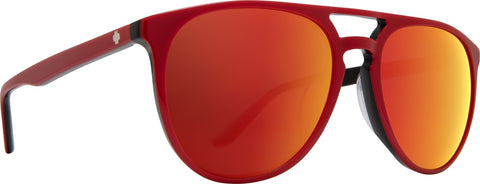 Spy - Syndicate Red + Black Sunglasses / Happy Gray Green + Red Spectra Lenses