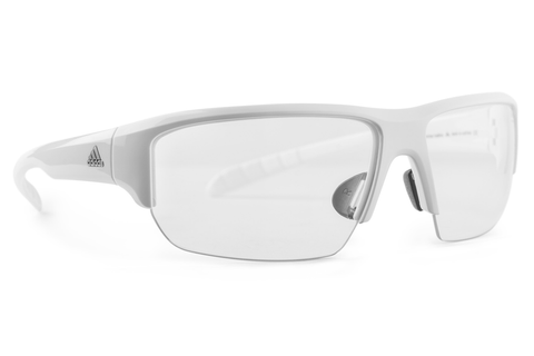 Adidas - Kumacross Halfrim White Sunglasses, Vario Clear / Gray Lenses