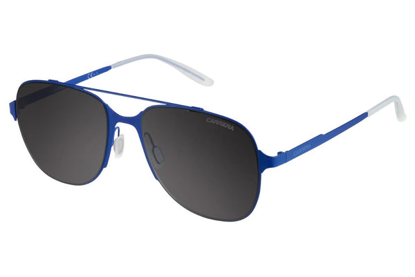 Carrera - 114/S Matte Blue Sunglasses, Gray Lenses