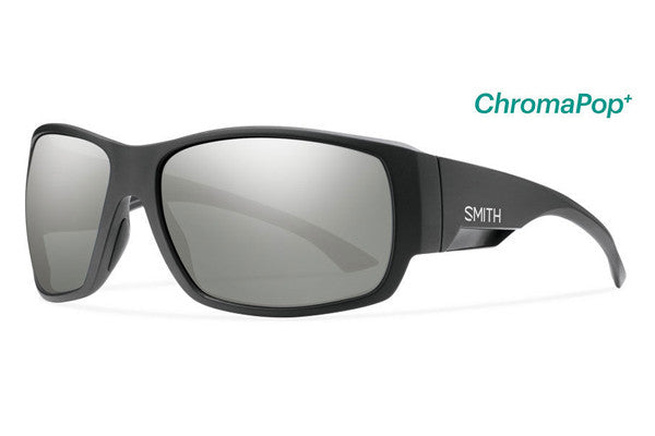 Smith - Dockside Matte Black Sunglasses, ChromaPop Polarized Platinum Lenses
