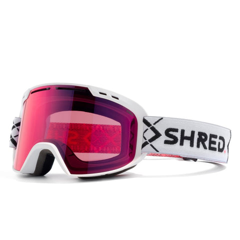 Shred Optics - Amazify Bigshow White Snow Goggles / Blast Mirror Lenses