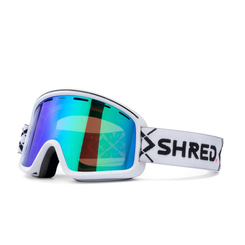 Shred Optics - Monocle Bigshow White Snow Goggles / Plasma Mirror Lenses