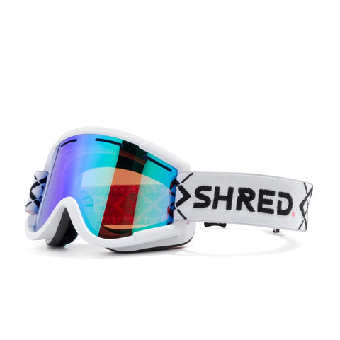 Shred Optics - Nastify Bigshow White Snow Goggles / Plasma Mirror Lenses