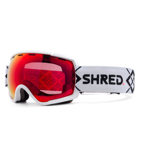 Shred Optics - Rarify Bigshow White Snow Goggles / Blast Mirror + Sky Mirror Lenses