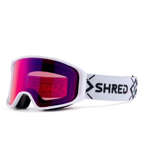Shred Optics - Simplify Bigshow White Snow Goggles / Blast Mirror + Sky Mirror Lenses