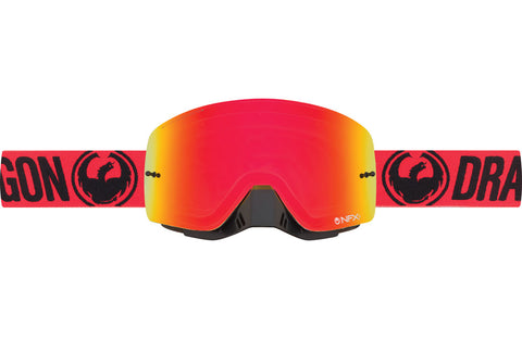 Dragon - NFX2 Break Red MX Goggles / Red Ion + Clear Lenses
