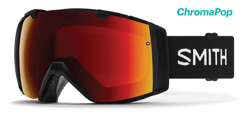 Smith - IO Black Snow Goggles / ChromaPop Sun Red Mirror Lenses