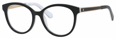 Kate Spade - Angelisa 51mm Black White Eyeglasses / Demo Lenses