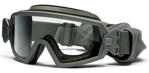 Smith - Outside The Wire Asian Fit Foliage Green Snow Goggles / Clear + Gray Lenses