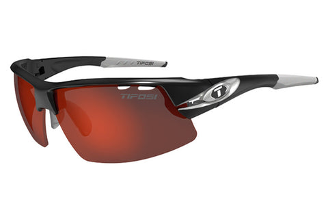 Tifosi - Crit Race Silver Sunglasses, Interchangeable AC Red / Clarion Red / Clear Lenses
