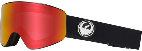 Dragon - PXV Black Snow Goggles / Red Ion + Rose Lenses
