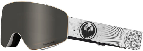 Dragon - PXV Galaxy White Snow Goggles / Silver Ion + Dark Smoke Lenses