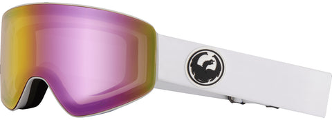 Dragon - PXV White Snow Goggles / Pink Ion + Dark Smoke Lenses