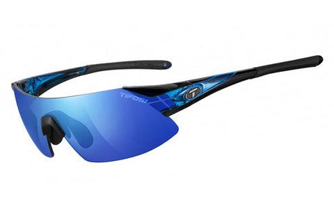 Tifosi - Podium XC Crystal Blue Sunglasses, Interchangeable AC Red / Clarion Blue / Clear Lenses