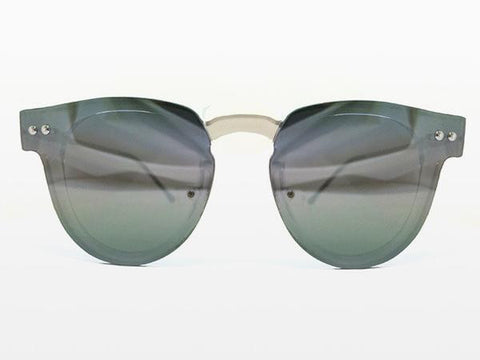 Spitfire Sharper Edge 2 Clear Sunglasses, Silver Mirror Lenses