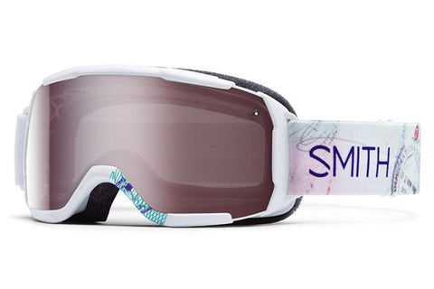 Smith Showcase OTG White Wanderlust Goggles, Ignitor Mirror Lenses