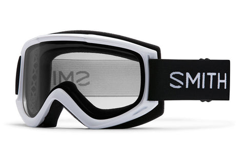 Smith - Cascade Classic White Goggles, Clear Lenses
