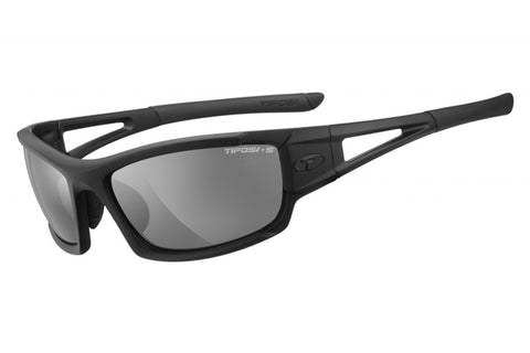 Tifosi - Dolomite 2.0 Tactical Matte Black Sunglasses, Clear / HC Red / Smoke Lenses