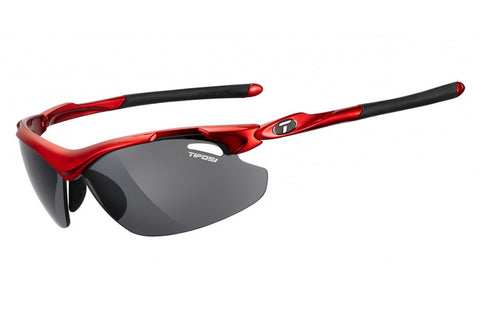 Tifosi - Tyrant 2.0 Metallic Red Sunglasses, Interchangeable AC Red / Clear / Smoke Lenses