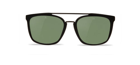 Vuarnet - Cup 1521 Matte Black Gunmetal Sunglasses / Pure Grey Lenses
