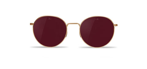 Vuarnet - Swing 1610 Gold Sunglasses / Pure Brown Purple Flash Lenses
