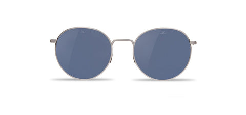 Vuarnet - Swing 1610 Brushed Silver Sunglasses / Blue Polarized Lenses