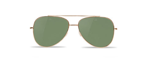 Vuarnet - Swing 1611 Gold Sunglasses / Pure Grey Lenses