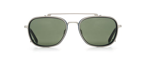 Vuarnet - Clip On 1804 Matte Dark Blue Sunglasses / Pure Grey Lenses