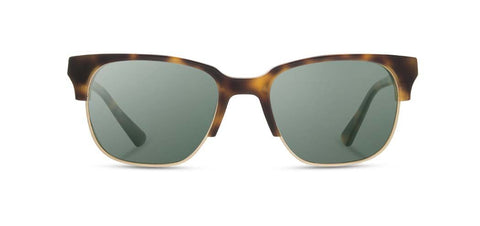 Shwood - Newport 52mm Matte Brindle Sunglasses / G15 Lenses