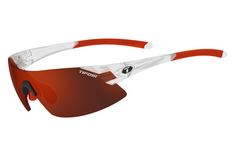 Tifosi - Podium XC Matte Crystal Sunglasses, Interchangeable AC Red / Clarion Red / Clear Lenses
