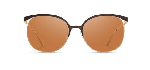 Shwood - Odessa Bronze + Gold Sunglasses / Brown Polarized Lenses