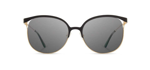 Shwood - Odessa Obsidian + Gold Sunglasses / Grey Polarized Lenses