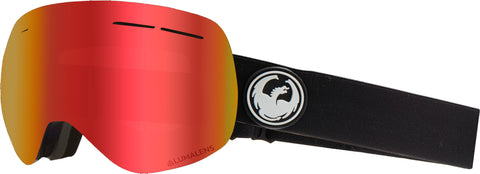 Dragon - X1S Black Snow Goggles / Red Ion + Rose Lenses