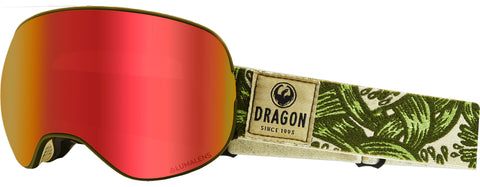 Dragon - X2 Plex Snow Goggles / Red Ion + Yellow Lenses
