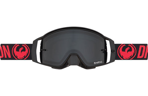 Dragon - NFX2 Red MX Goggles / Injected Smoke + 10 pack Tear Offs + Lens Shield Lenses