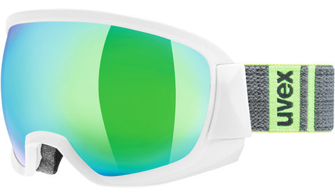 UVEX Sport - Contest FM White Snow Goggles / Green Mirror Lenses