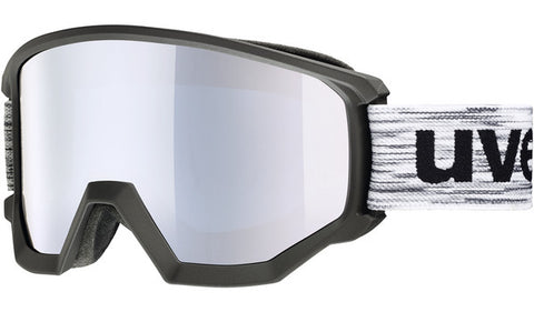 UVEX Sport - Athletic FM White Black Snow Goggles / Silver Mirror Lenses