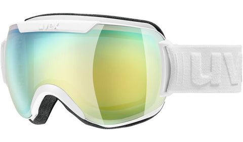 UVEX Sport - Downhill 2000 FM Matte White Snow Goggles / Orange Mirror Lenses