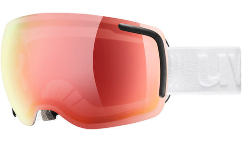 UVEX Sport - Big 40 VFM White Snow Goggles / Red Mirror Lenses