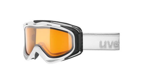 UVEX Sport - G. GL 300 LGL White Snow Goggles / Orange Mirror Lenses