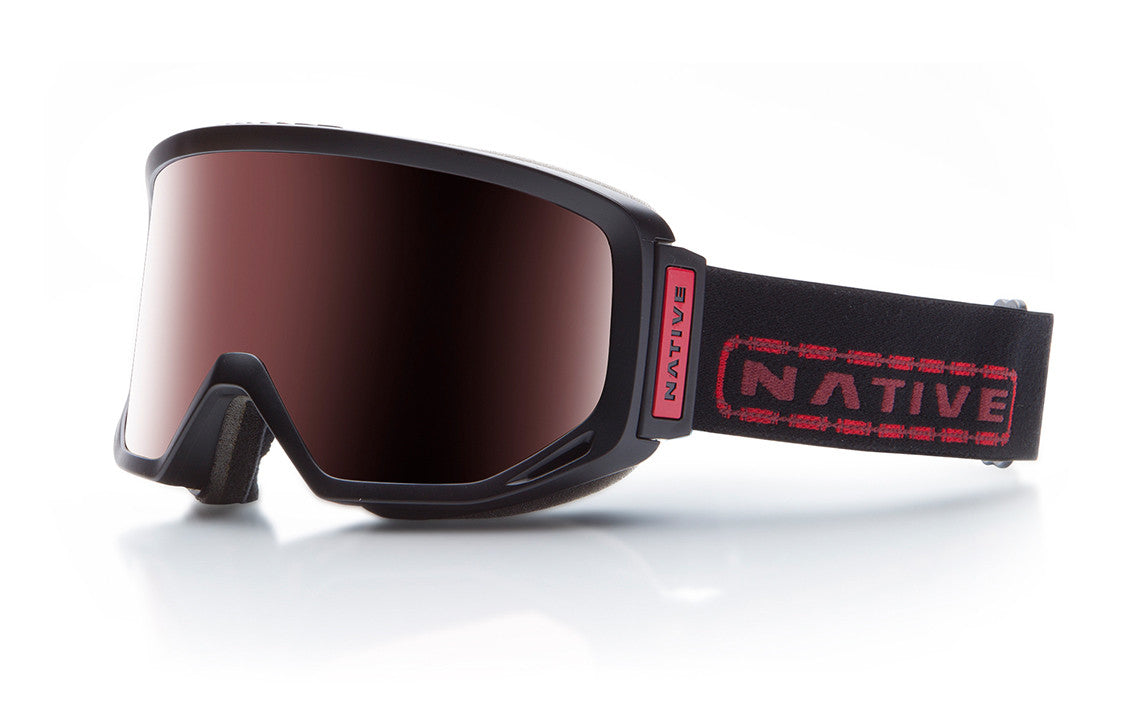 Native - Coldfront Tartan Goggles, Rose React Lenses