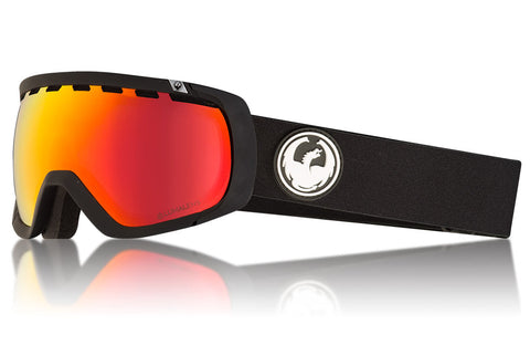 Dragon - Rogue Black Snow Goggles / Lumalens Red Ion + Lumalens Rose Lenses