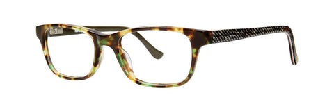 Kensie - Jeans 48mm Green Tortoise Eyeglasses / Demo Lenses