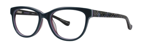 Kensie - Glamour 46mm Blue Green Eyeglasses / Demo Lenses
