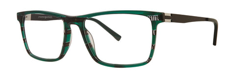 Jhane Barnes - Trichotomy 54mm Green Eyeglasses / Demo Lenses