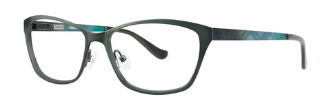 Kensie - Iridescent 54mm Forest Green Eyeglasses / Demo Lenses